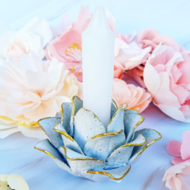 Kaarsenhouder - Flower voor dinerkaars wit Present Time