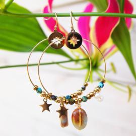 Goudkleurige oorhangers - Star - Lolilota
