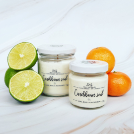 Soja geurkaars - Caribbean soul, limoen, basilicum & mandarijn