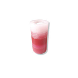 Infinity kaars - Rood met roze tinten
