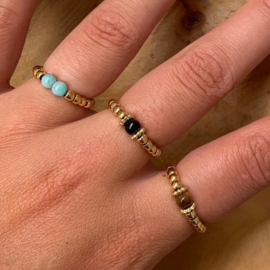 Ring kraaltjes - Verguld edelstaal