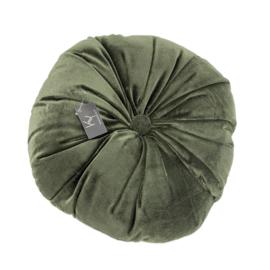 Kussen Velvet Mosgroen - 40cm rond