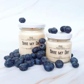 Soja geurkaars - Bake my day, blauwe bessen en vanille muffin
