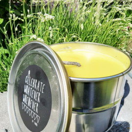 Outdoor kaars in blik - Rustik Lys - Mustard