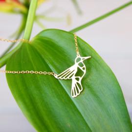 Goudkleurige ketting - Bird - Lolilota