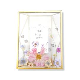 Droogbloemen in gouden lijst - Nuri L