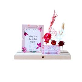 Flowergram voor meerdere kaarten - hartje naturel L