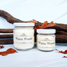 Soja geurkaars - Warm Woods, musk en sandelhout