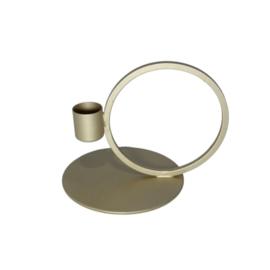 Kandelaar cirkel dinerkaars - goud
