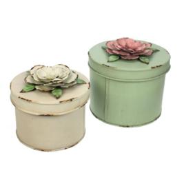 Doos met bloem - Set roze
