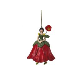 Hanger bloemenmeisje - Klaproos