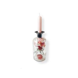 Droogbloemen kandelaar - Roze