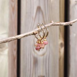 Creool goud CHIPSTONE - beige roze