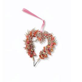 Droogbloemen krans - Hart klein