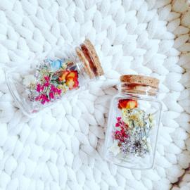 Dried flowers in a jar - XS