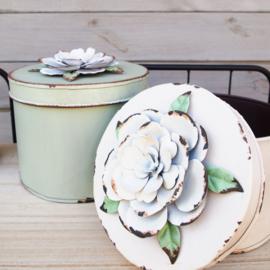 Doos met bloem - Set pastel
