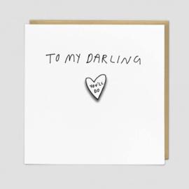 Kaart speldje - Darling