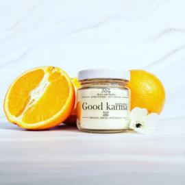 Soja geurkaars - Good Karma, orange en patchouli