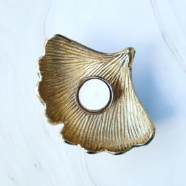 Kaarsenhouder - Leaf gold ginkyo