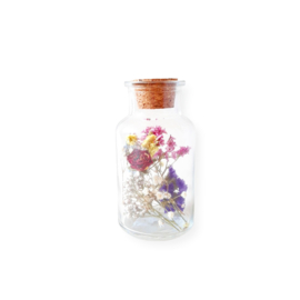 Droogbloemen in apothekers pot - S mix