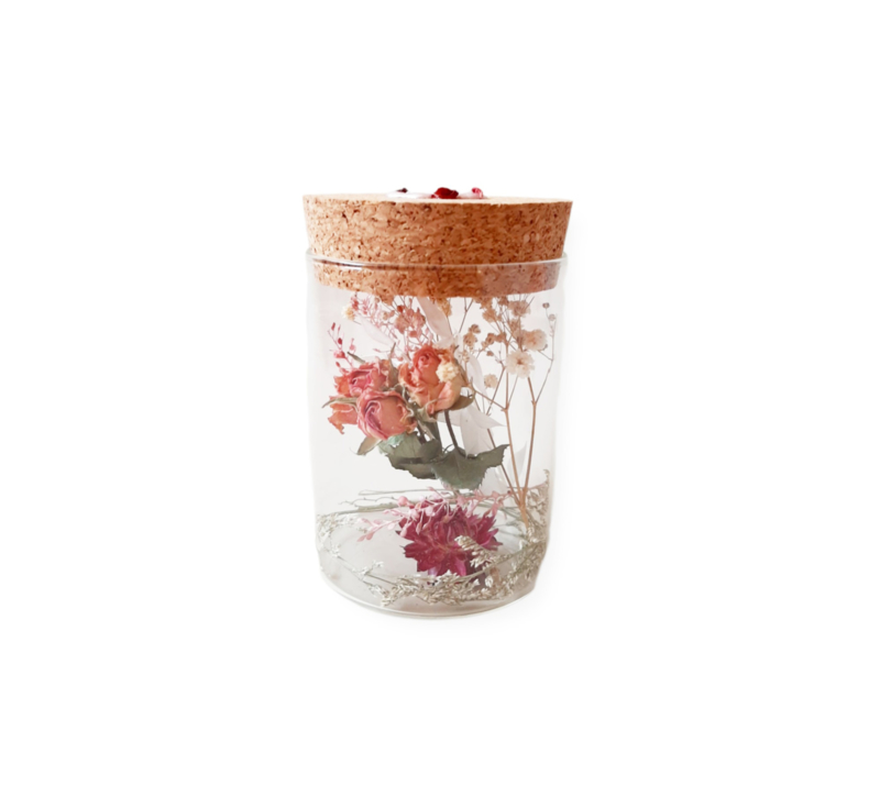 Droogbloemen - Roses and Ruches - pot M
