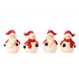12 x Grappige Kerstbeeldjes h 8,5 cm b 5,5 cm 4 ass.