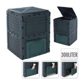 3 x Compostvat - compostbak pvc 80x65x65cm - 300 liter  HJ3000