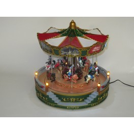 2 x Carrousel Groot - Merry Go Round - 30x30x35cm - Groen KH4937