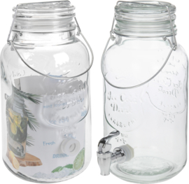 6 x Drankdispenser van glas 4 Liter - EE1500