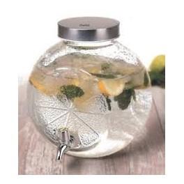 4 x Drankdispenser glas 5 liter