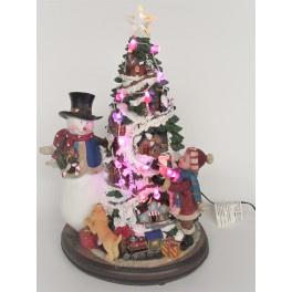 2 x Kerstboom , Sneeuwpop + Kind