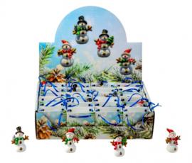 24 Sneeuwmannetjes in een kadotasje 4 assortie  KE2028
