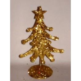 10 x Kerstboom goud 20 cm met ster