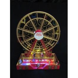 2 x Verlicht Reuzenrad met muziek  49 cm hoog  KH4975