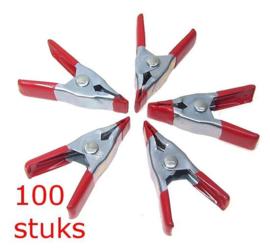 2 x 100X Mini markt klemmen - Zeil klem - lijmklem - klein 5 cm HD7000