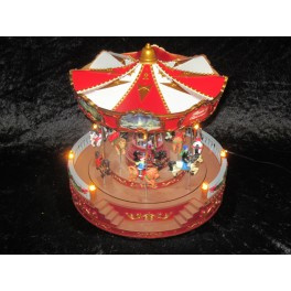 2 x Carrousel Groot - Merry Go Round 30x30x35 cm Rood