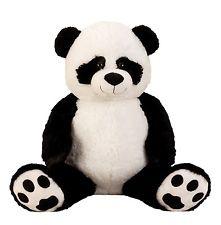 Pandabeer pluche XXL 100 cm met kraalogen 5 stuks