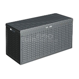 3 x Opbergbox - Kussenbox - Tuinkist 320 liter - antraciet - 120 x 45 x 60 cm HK2500