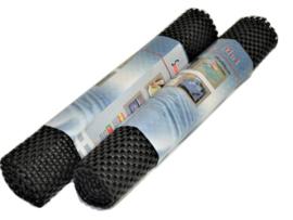 12 x Antislip mat op rol zwart 30 x 90 cm  BB2150