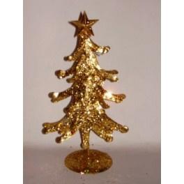 10 x Kerstboom goud 27 cm met ster