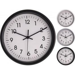 8 x Wandklok - Keukenklok - Rond - Diameter 22,6 cm Quarz zwart of wit