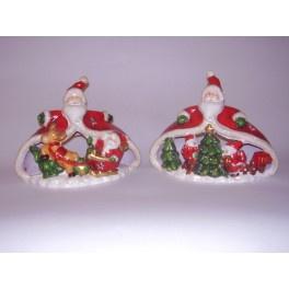 12 x Waxinehouder Kerstmannen 2 ass.