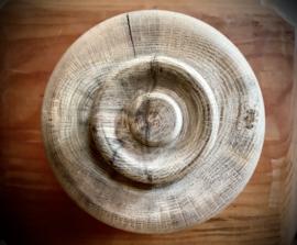 Pot met deksel Eikenhout