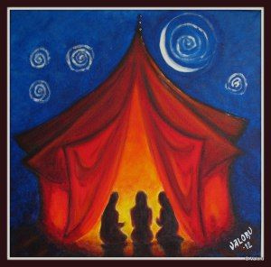 De Aerde Godinnen - Rode tent