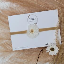 Haarbandje Wool Flower Off white
