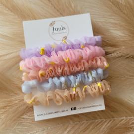 Scrunchie set pastel madelief
