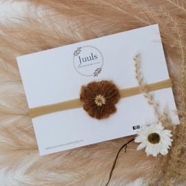 Haarbandje Wol Flower