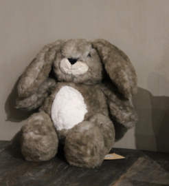 Knuffel zacht bruin konijn klein