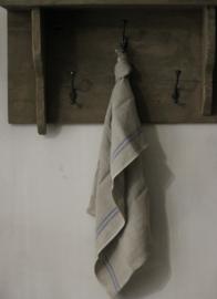 Theedoek blauwe streep