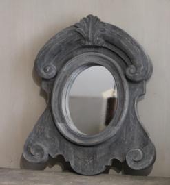 Houten spiegel grijs